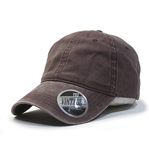 Plain Washed Dyed Cotton Twill Low Profile Adjustable Baseball Cap (Brown) 4c536cfc8c64