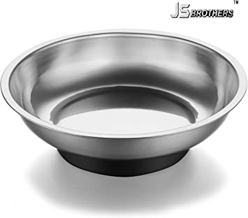"""Dish 9.5 /"""" Square Any Position Magnetic Stainless Steel Parts Storage Tray"""