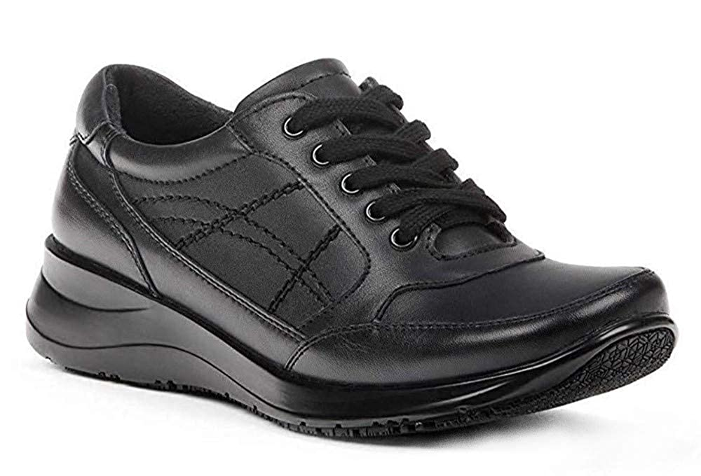 35ba08da Yellow Shoes Women's Nurse or Food Service Genuine Leather Comfort Work  Sneakers - Memory Foam - No-Slip