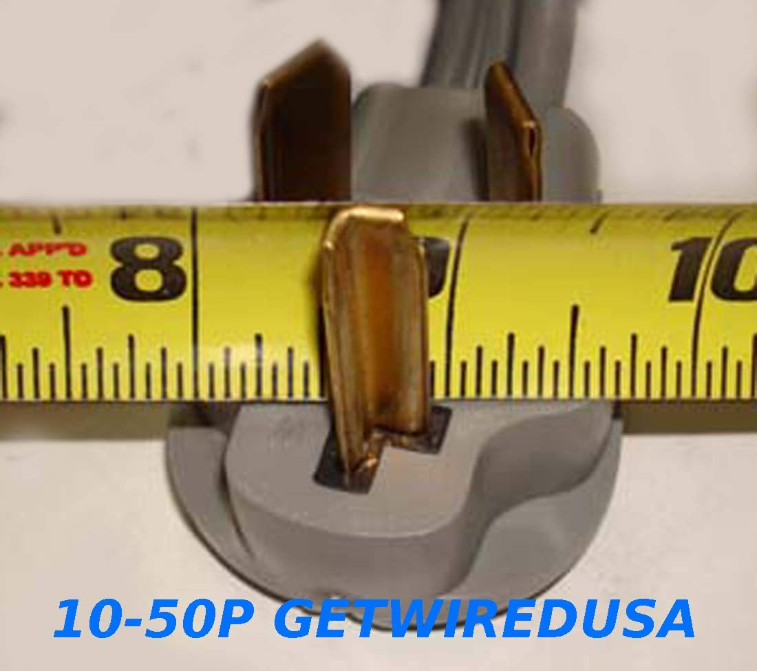 10-30P 3-Pin Male Dryer 220/250V Plug To TT-L5-30R Weatherproof 110/125V RV Camper Travel Trailer Motor Home Receptacle Outlet Socket Adapter, Electrical Power Connector Cord Convert, NEMA FX125V1002 by getwiredusa (Image #2)