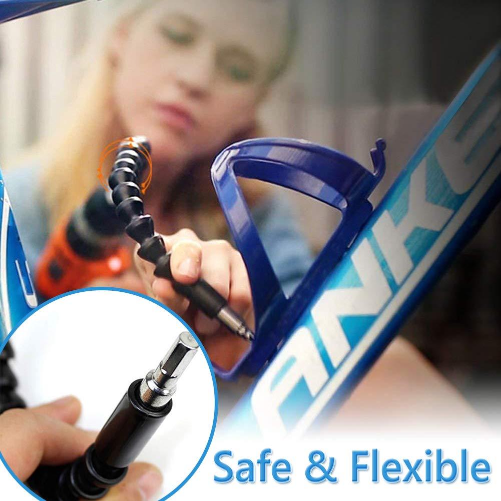 Extension de Tournevis Flexible,BESTZY 3 pi/èces 105 Degr/és Perceuses et Arbre Flexible Universel 250mm 295mm pour Outils de R/éparation Universels