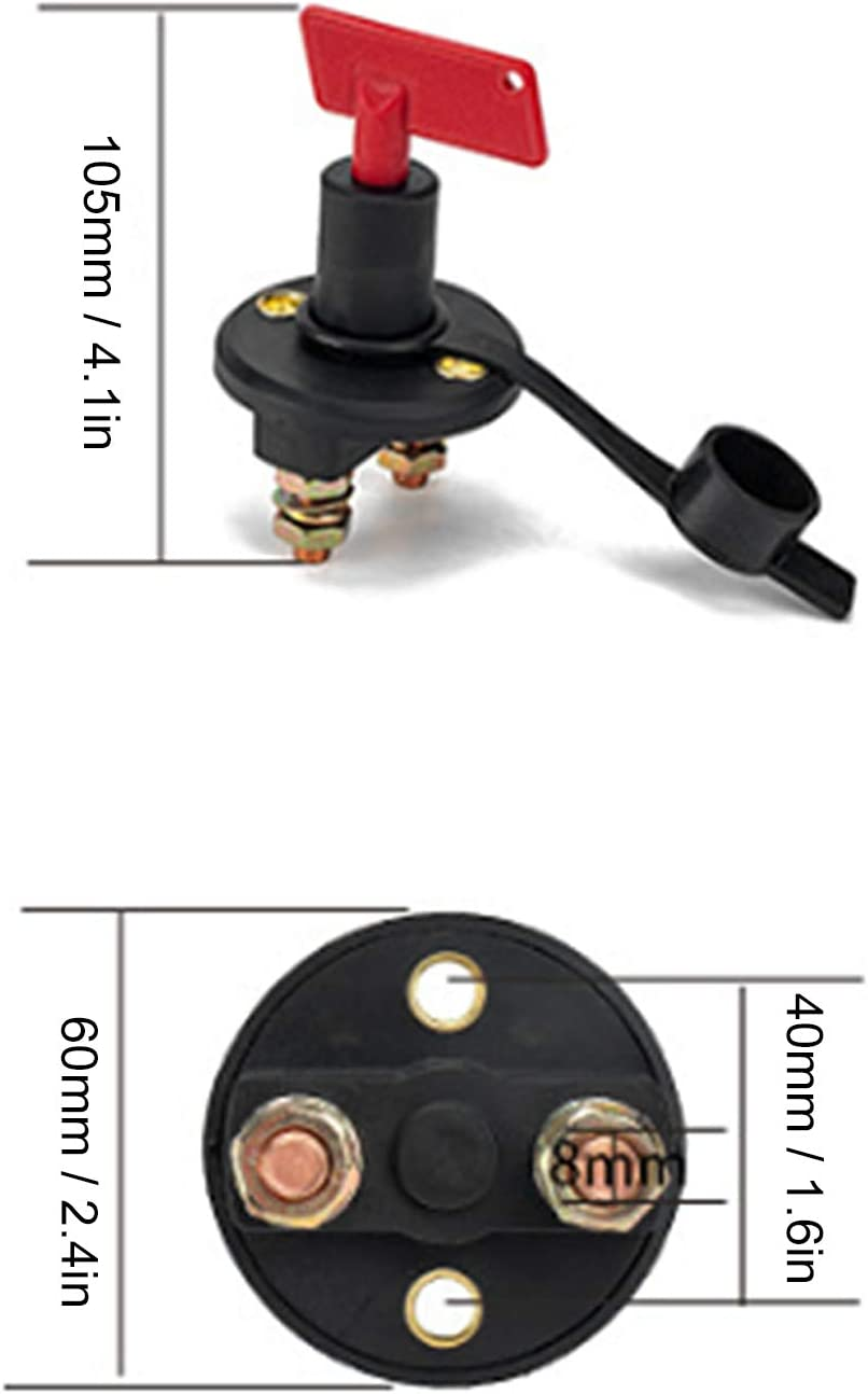 Battery Kill Switch Disconnect Isolator Anti-Leakage Protection for Car Truck SUV Caravan for Replacement Parts