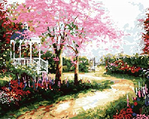 Dream Trail Dream house by Thomas Kinkade landscape -DIY Painting by number kit wall art abstract oil paintings Frameless 16x20 inch