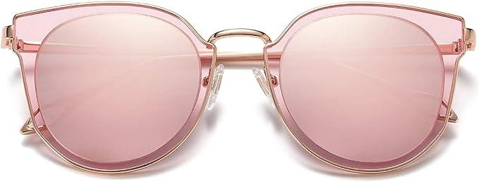 SOJOS Gafas De Sol Para Mujer Hombre Vintage Lentes Espejo Polarizadas Protecciòn UV SJ1057