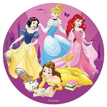 Disco de azúcar Princesas Disney 16 cm - decoración pastel ...