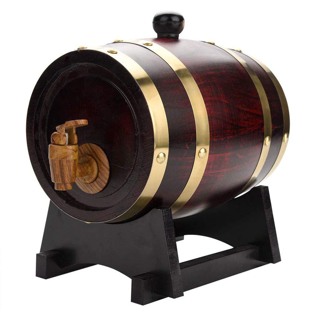 Barril Dispensador De Vino Barril De Madera Hogar Balde Artesanal De Roble Kit De A/ñEjamiento para Cognac Ginebra Ron Sangria Licor Cerveza 3L 5L 10L 20L 30L,4,3L