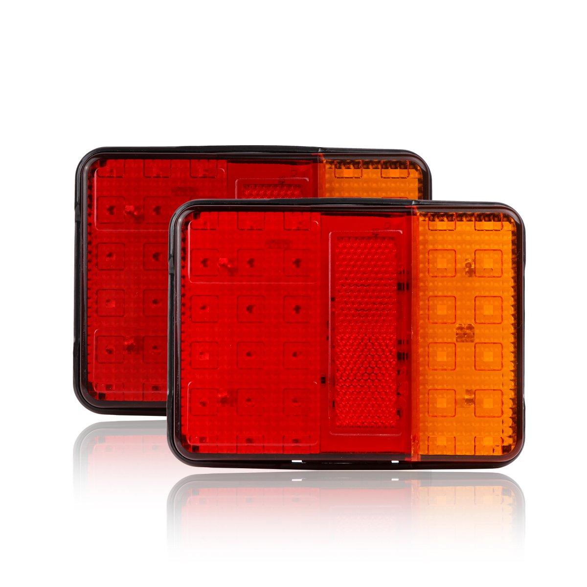 30 luces LED traseras de freno e indicadores de Abedoe, 12 V, para remolque, camió n, volquete, furgoneta y caravana 12V camión