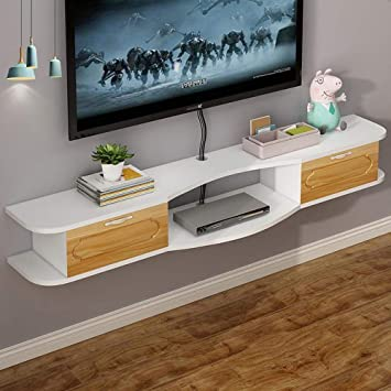 Mueble TV de Pared Estante de la Pared Estante Flotante Router de ...