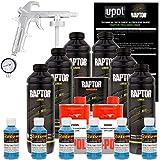 U-POL Raptor Safety Blue Urethane Spray-On Truck Bed Liner Kit w/ FREE Custom Shop Spray Gun with Regulator, 6 Liters