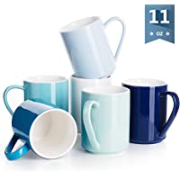 Sweese Porcelain Mugs - 11 Ounce for Coffee, Tea, Cocoa, ZS
