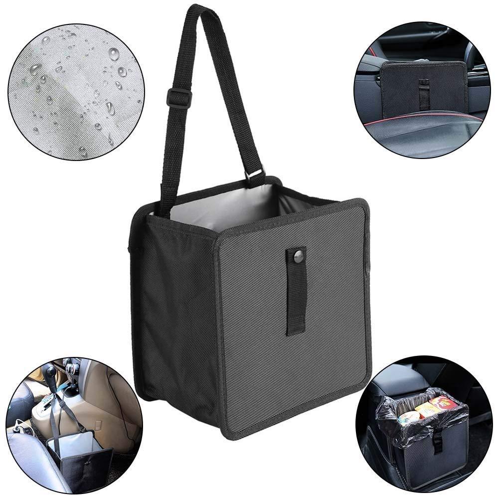 CaRSun Poubelle de voiture sac de corbeille de voiture pliable impermé able anti-fuite Organiseurs pour voiture. 6.5ltr Contenance