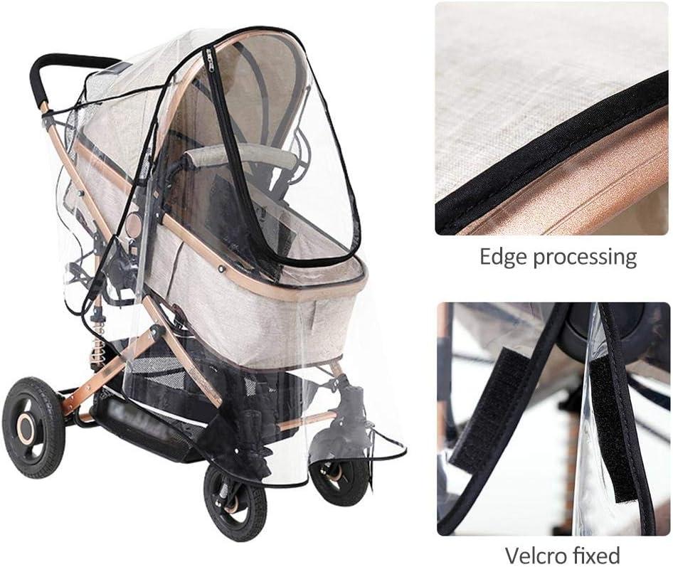 Freedomanoth Komfort Regenverdeck Mit Rei/ßverschluss F/ür Buggy Universal Regenschutz F/ür Kinderwagen Waschbar Tragbare Gute Luftzirkulation Schadstofffrei