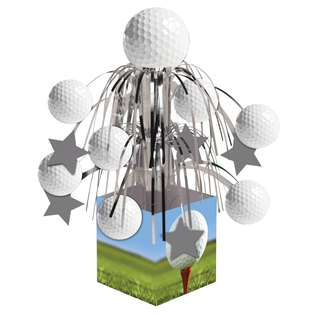 Creative Converting Sports Fanatic, Golf Centerpiece with Mini Cascade and Base, White