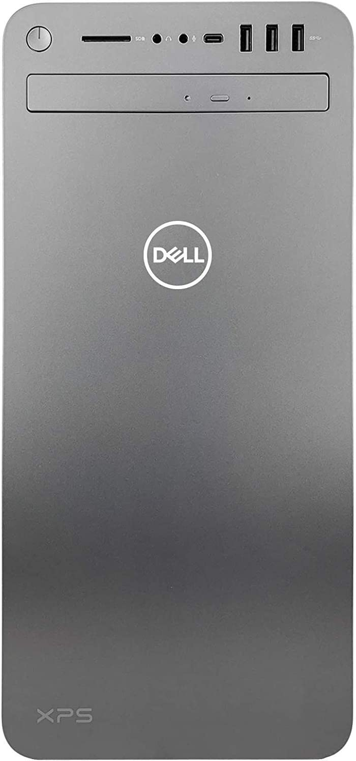 Dell XPS 8930 Special Edition Tower Desktop - 9th Gen Intel 8-Core i9-9900K CPU up to 5.00 GHz, 64GB Memory, 1TB SSD + 2TB HDD, NVIDIA GeForce GTX 1050Ti 4GB GDDR5, DVD Burner, Windows 10 Pro, Silver
