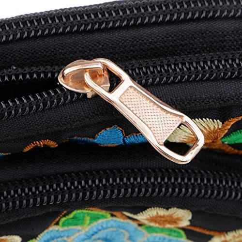 stof met tas Retro geborduurde 1 Tote Draw merk Niet stijl etnische vrouwen handgemaakte SharPlace voor Draagbare qOnI0xvw