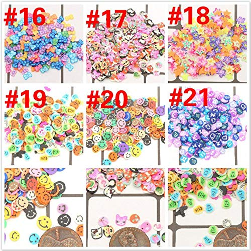 (kakroz Fimo Polymer Clay Cane Slices for Slime Charms Supplies and Nail Arts (400 Pieces, 19 Halloween) )