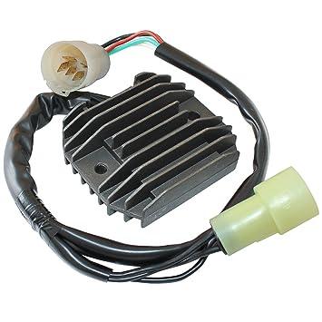 61km1XgglyL._SY355_ amazon com caltric regulator rectifier fits kawasaki zx6r ninja kawasaki rectifier wiring at aneh.co