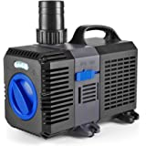Flexzion Pond Pump Submersible (2100GPH) Adjustable Frequency Inline Aquarium Fountain Waterfall Koi Fish Salt Fresh Water Filter with Set of Outlet Adapter