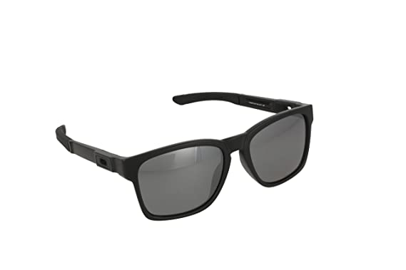 Oakley Men's Catalyst OO9272-09 Polarized Iridium Square Sunglasses, Matte  Black, ...