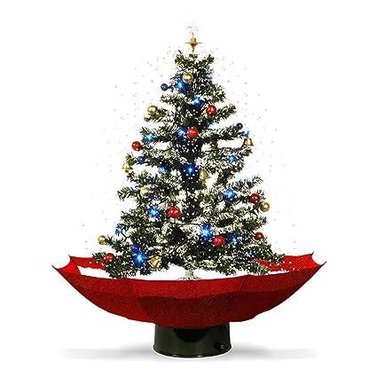 Immagini Natalizie Particolari.Mostromania Albero Di Natale Innevato Con Musica E Luci Led Decorazione Natalizia Con Neve Albero Di Natale In Miniatura Addobbi Natalizi
