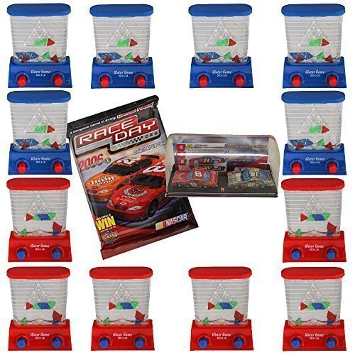 12 Pieces Kids Party Favor 3.5'' Handheld Triangle Water Game-Dozen-Bonus!Race Day Car by Kidsthrill