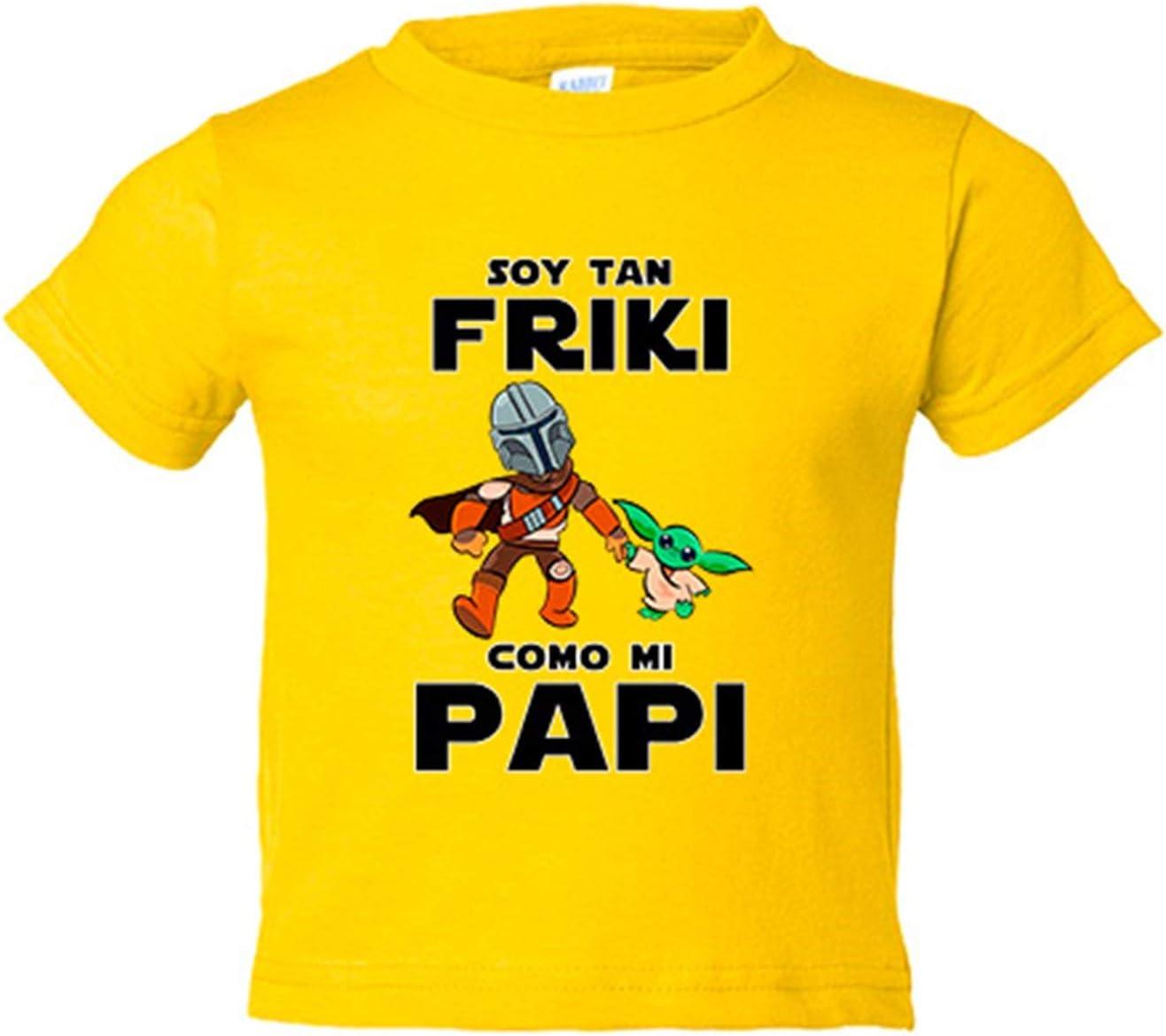 Camiseta niño soy tan friki como mi papi parodia baby yoda ...