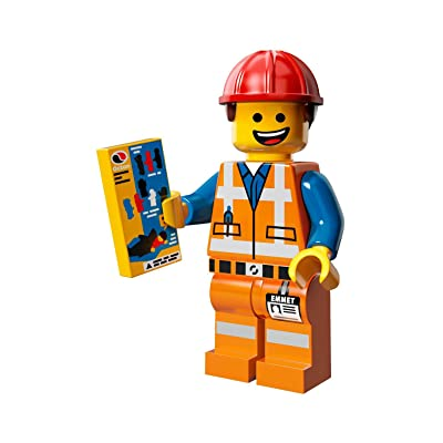 LEGO The Movie Emmet Construction Worker Minifigure Series (71004): Toys & Games