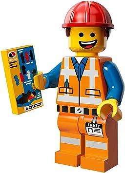 Amazon Com Lego The Movie Emmet Construction Worker Minifigure Series 71004 Toys Games