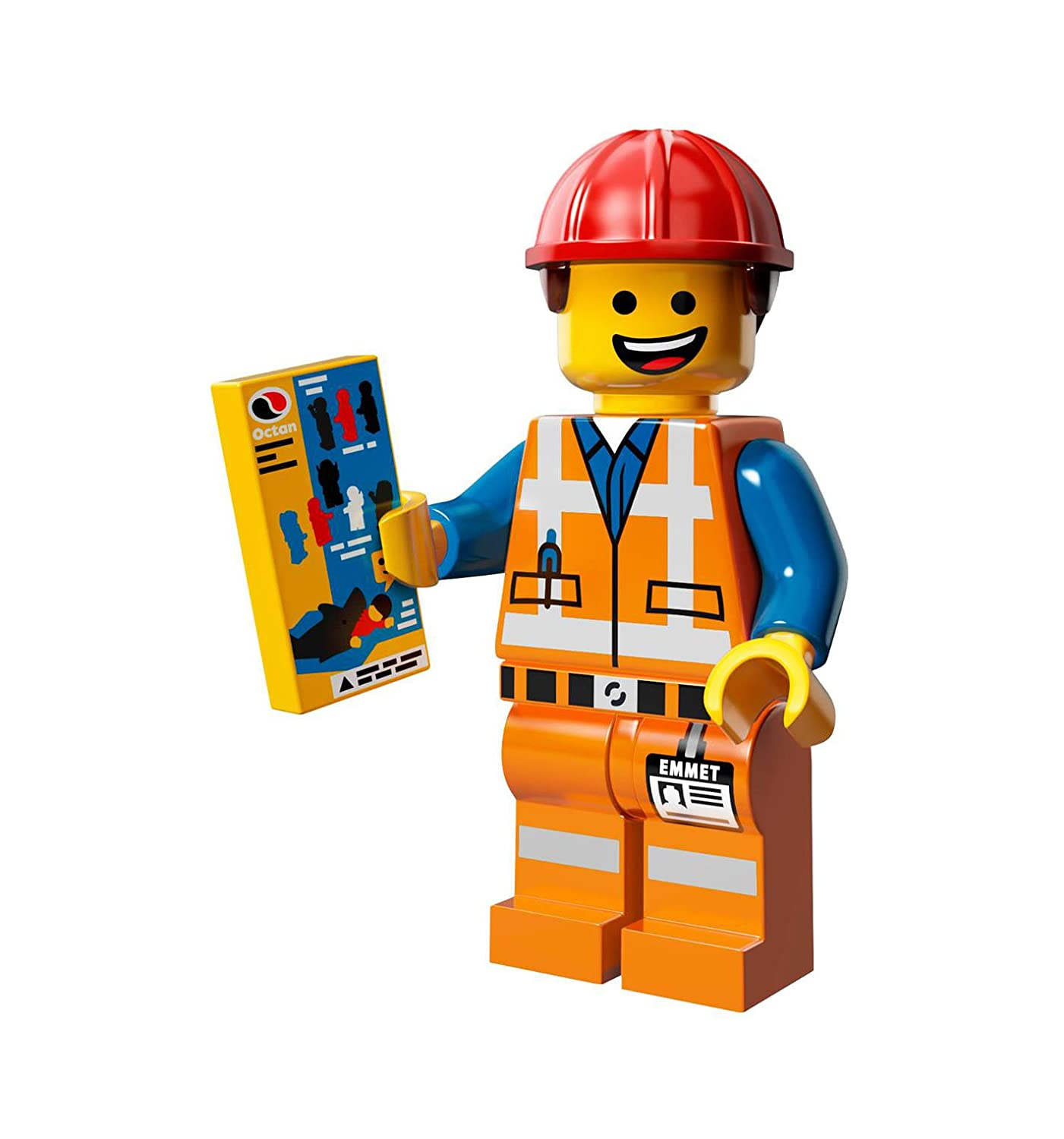 com the lego movie emmet construction worker minifigure com the lego movie emmet construction worker minifigure series 71004 toys games