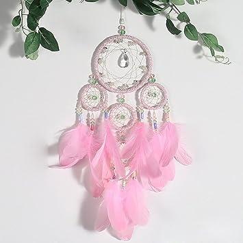 Traumfänger Mit Kristall, Bunten Perlen U0026 Feder Handgefertigt  Traditionellen Dreamcatcher Für Mädchen Zimmer Valentinstag Geschenk