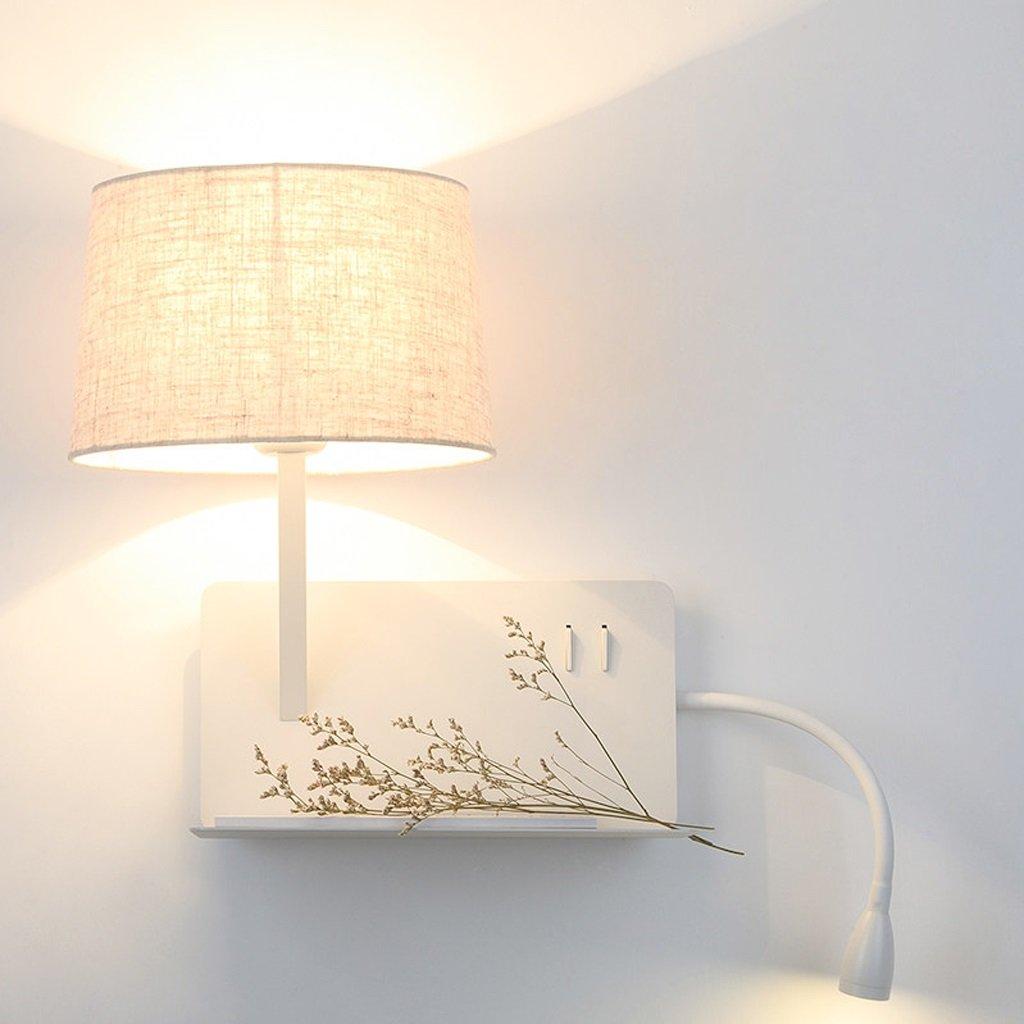Kreative Regale Wandleuchte Mit Schalter LED Leselampe Nordic Hotel Schlafzimmer USB Nachttischlampe (Farbe   Recht)