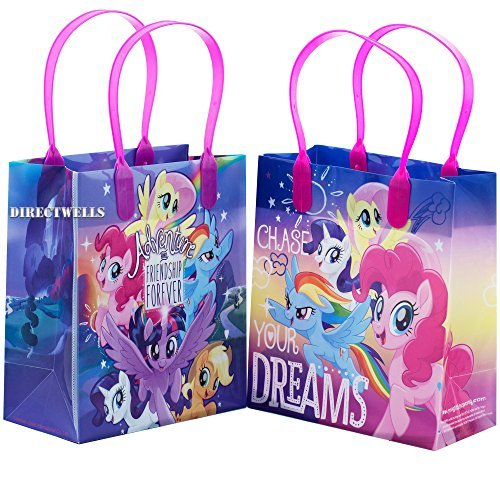 Little Pony Adventure and Friendship 12 Party Favor Reusable Goodie Small Gift Bags ()