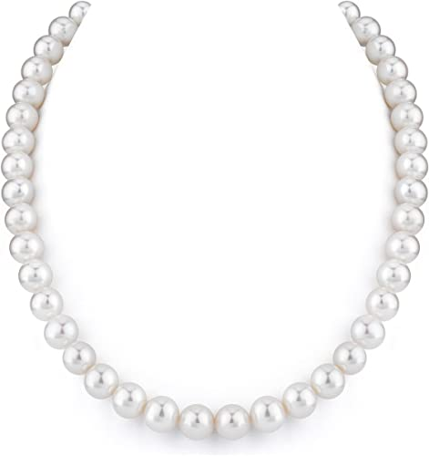 """9-10MM White Akoya Pearl Necklace 18/""""AAAA+"""