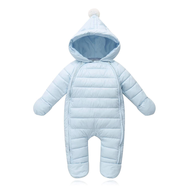 Ohrwurm Baby Bunting Pram Bodysuit for Newborn, Infant Winter Jacket Coat Toddler Costume, Light Blue, 0-5 Months by Ohrwurm