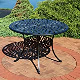 Sunnydaze Round Patio Dining Table - Outdoor