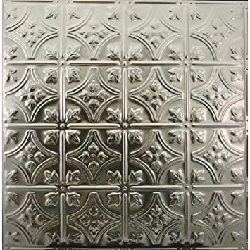 Metalceilingexpress 24×24-Inch Unfinished Nail-up Tin Ceiling Tiles 103 5-Pieces