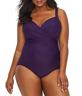 Miraclesuit 6513063 Women's Must Haves Sanibel Plum Red Underwired Shaping Swimsuit Livraison Gratuite Meilleure Vente D0dRL2YYY