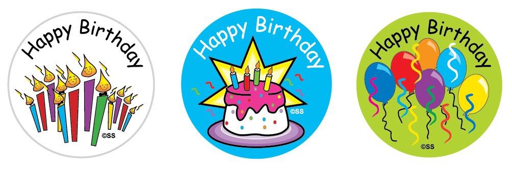 Sticker Solutions feliz cumpleaños pegatinas (Pack de 54 ...