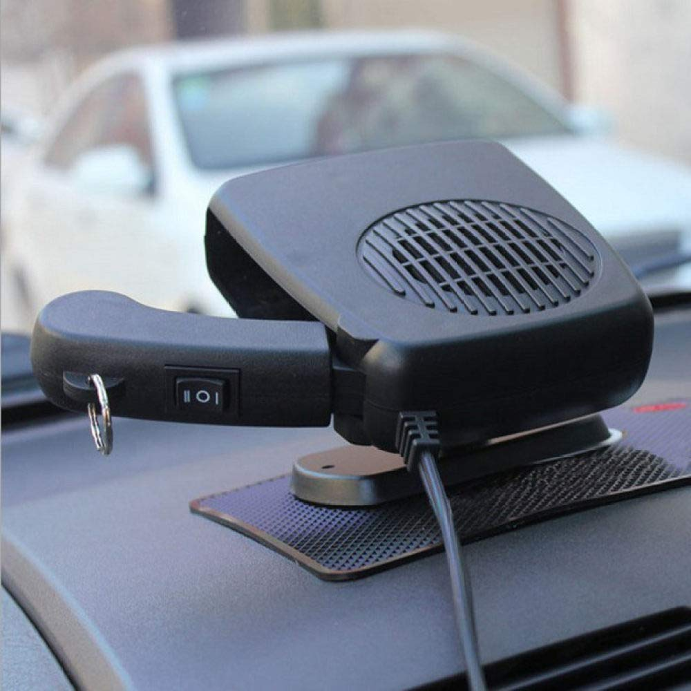 12V Portable Ceramic Heating Cooling Heater Fan Car Defroster Demister Car Heater Fan