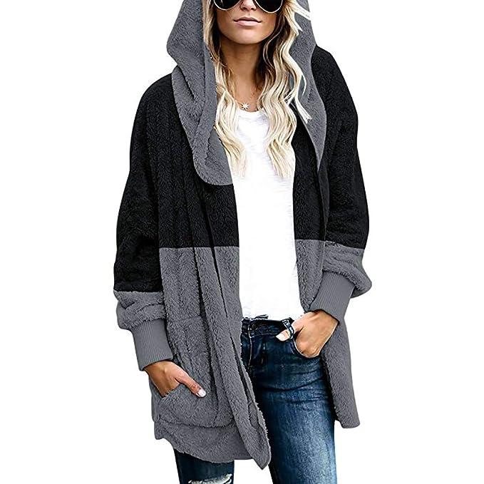 Abrigos Mujer Largo Chaquetas con Bolsillo Elegante Casual Lana Suéter Capa de Abrigos Mujer Invierno Ofertas