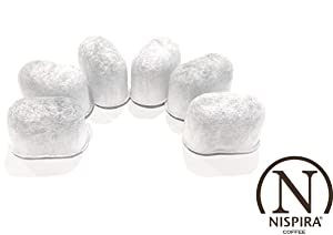 6-Pack Replacement Charcoal Water Filters for Keurig Coffee Machines By NISPIRA