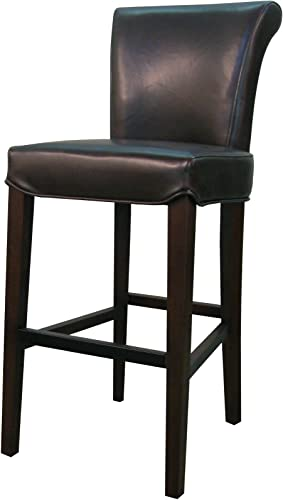 New Pacific Direct Bentley Bicast Leather Counter Bar Counter Stools, Mocha