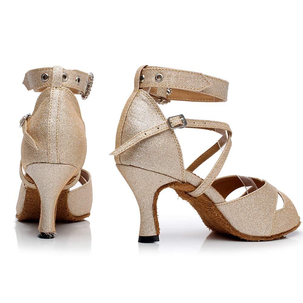 XIAOY XIAOY XIAOY Tanzschuhe Damen Tango Jazz Latin Dance Satin Peep Toe High Heel Knöchel Riemchen B07MR9X6XX Tanzschuhe Jahresendverkauf a681ad