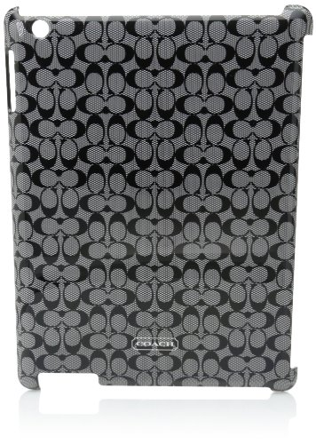 Coach Sig Mold Ipad Case Blk/Wht. - Type Coach