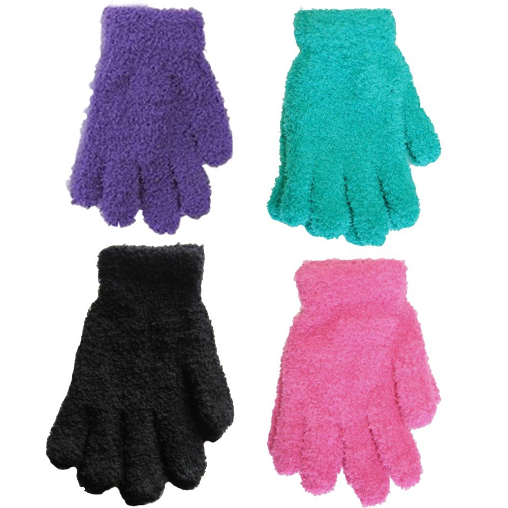 6 Pairs Girls Colourful Snowsoft Winter Gloves RJM Accessories