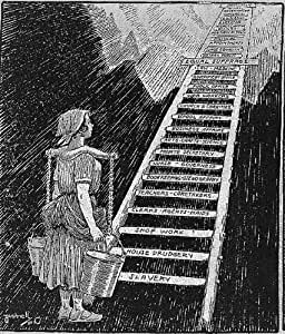 Foto: El cielo es su límite, 1920, dibujos animados, mujer, escalera, Esclavitud, La Igualdad De Sufragio, Bushnell: Amazon.es: Hogar