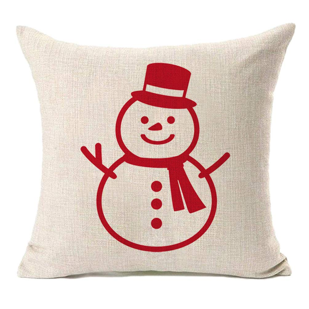 Amazon Com Mfgneh Winter Christmas Decor Cotton Linen Snowman