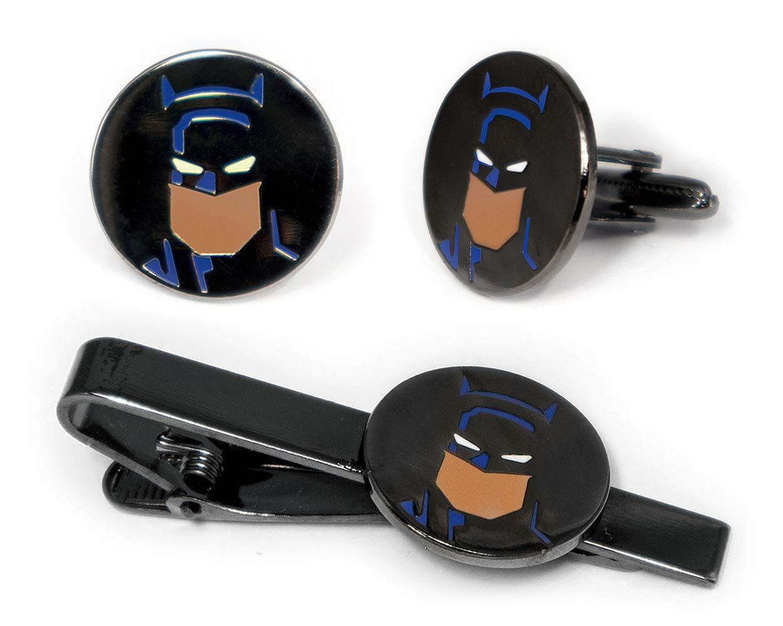 SharedImagination Batman Tie Clip, Batman Cufflinks, Batman Tie Tack Jewelry, Minimalist Justice League Cuff Links Link Wedding Party Gift, Avengers Groomsman Gifts by SharedImagination