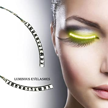 LED Eyelashes Waterproof LED Light F. Lashes Luminous Shining Charming Eyelid Tape for Party Bar