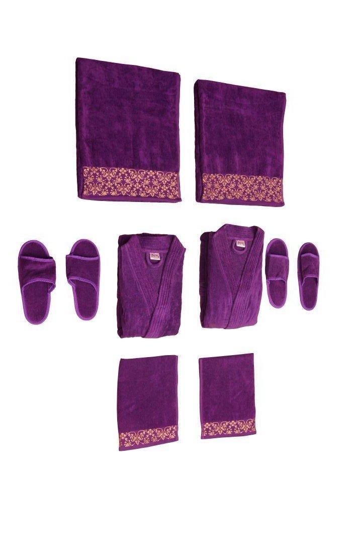Traditional Mafia rsesbt888816 8 Piece Wedding Couple Set, Purple by traditional mafia